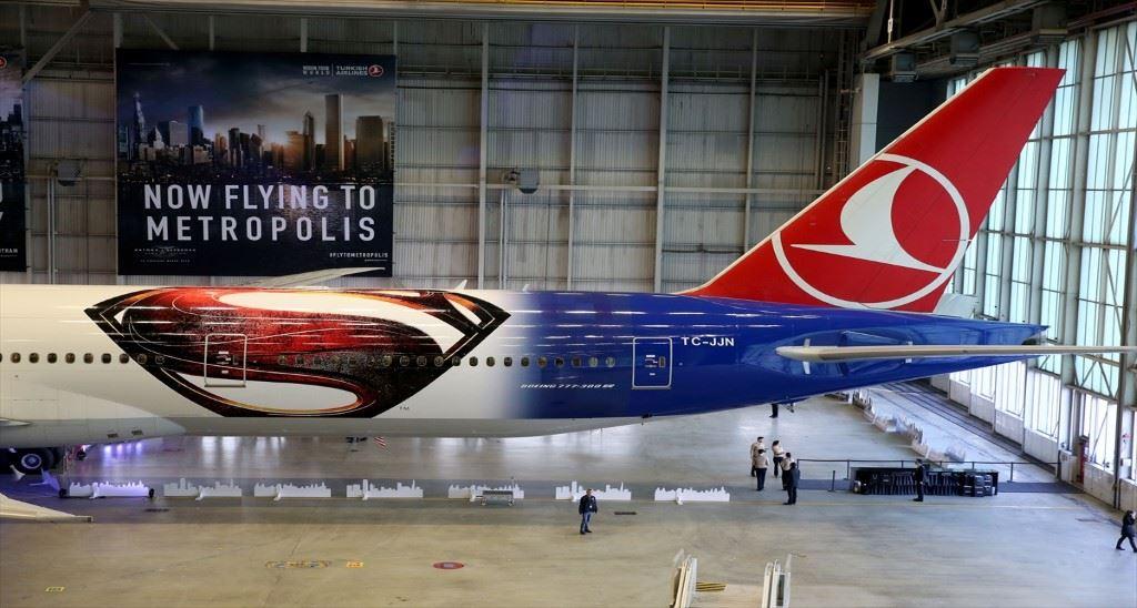 """Türk Hava Yolları'nın sponsoru olduğu """"Batman v. Superman: Adaletin Şafağı"""""""